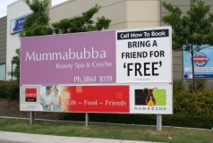 Mumma bubba Brisbane billboard sign