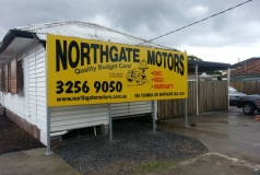 North Gate motors Brisbane billboard sign