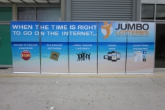 Jumbo lotteries brisbane pull-up banners