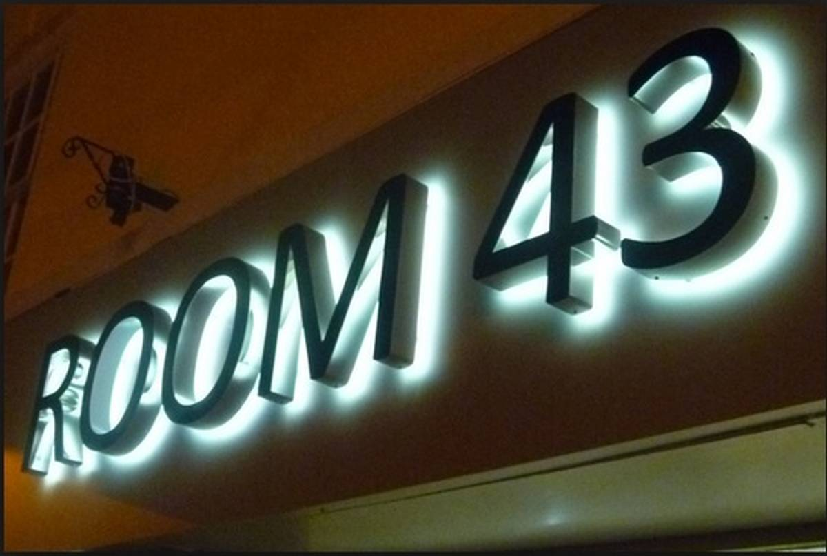 Room 43 Illuminated 3D Lettering Sign