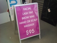beauty therapy Brisbane A Frame signs
