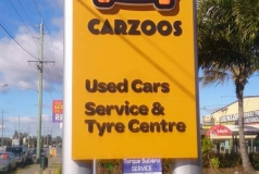 Brisbane Car Sales Pylon Sign