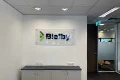 Bielby Reception Sign
