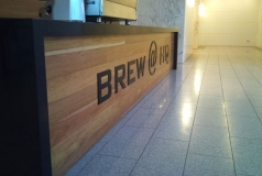 Brew HQ Reception Sign