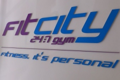 Fit City Brisbane Reception Sign