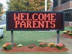 Welcome Parents LED School Sign