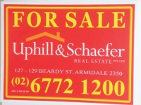 Up Hill Real Estate Corflute for Sale Sign Brisbane