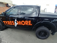 Tyres & More Ute Signage