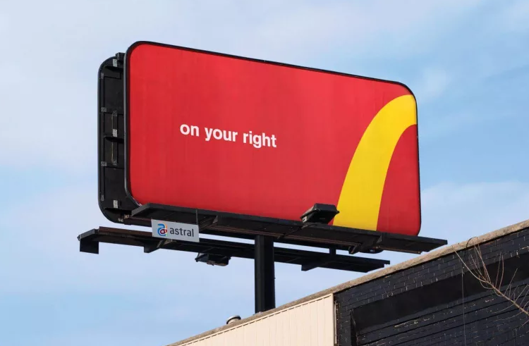 Maccas Billboard Call to Action - Billboard Design Tips for a Brisbane Audience via Pinterest - Fabsigns