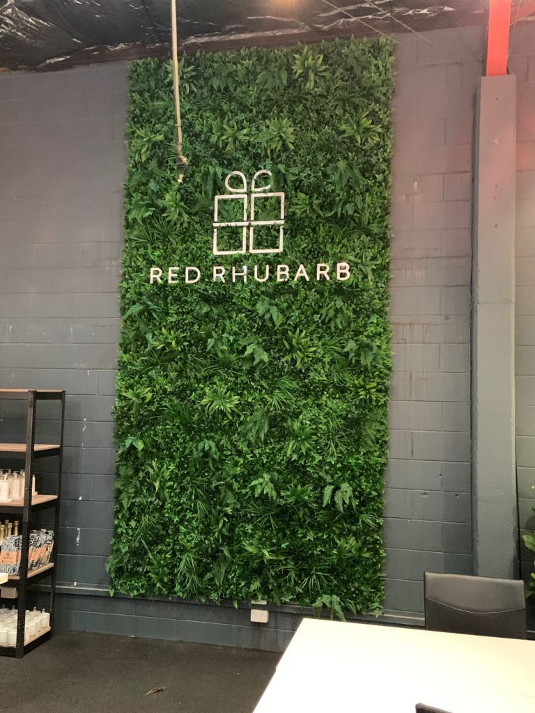 Shop Sign Ideas | Add a Touch of Greenery | 3D lettering with a Green Wall by Fabsigns